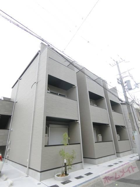 フルール 1K/1階の外観 同施工会社の同仕様写真です。