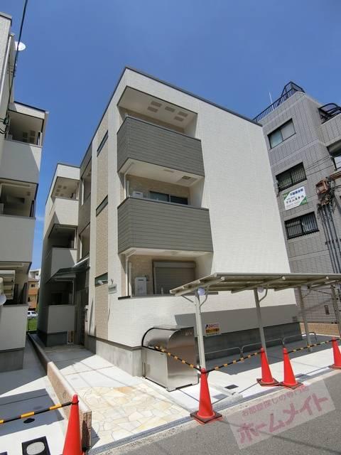 フジパレス平野南II番館 1K/2階の外観 同施工会社の同仕様写真です。